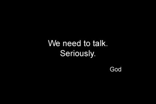 Image result for we need to talk god
